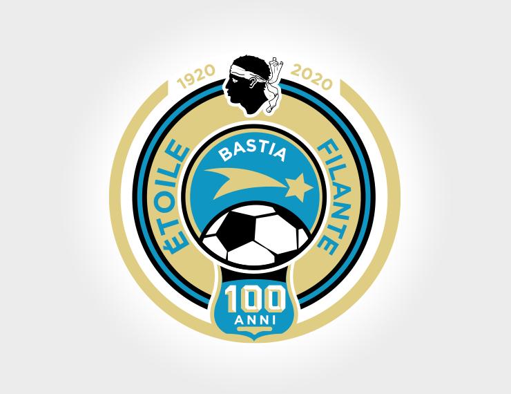 Étoile Filante Bastiaise - Logotype 100 anni